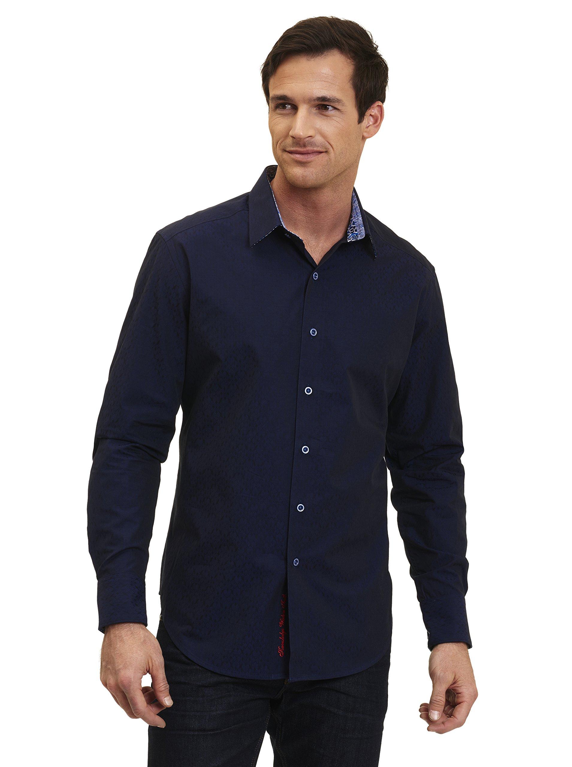 Robert Graham Bayside L/S Woven Shirt Navy Xlarge
