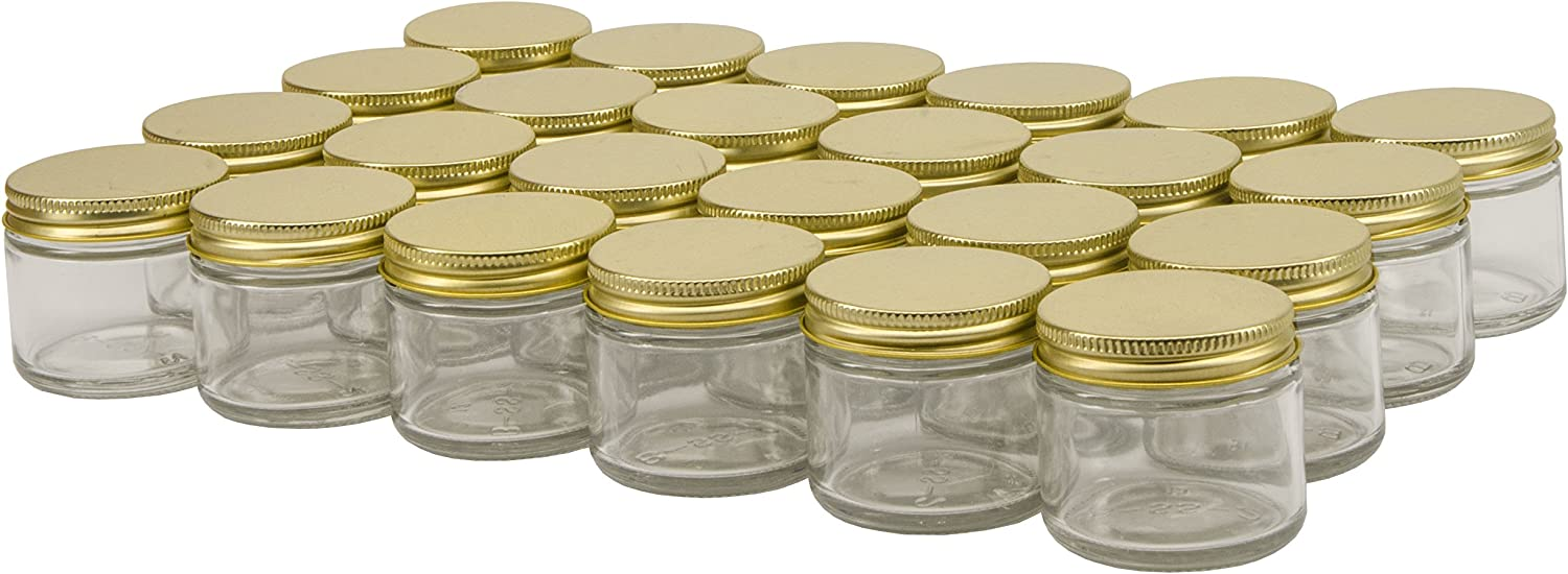 North Mountain Supply 2 Ounce Straight Sided Spice//Canning Jars 53 CT Case of 24 Black Plastic Lids, 1
