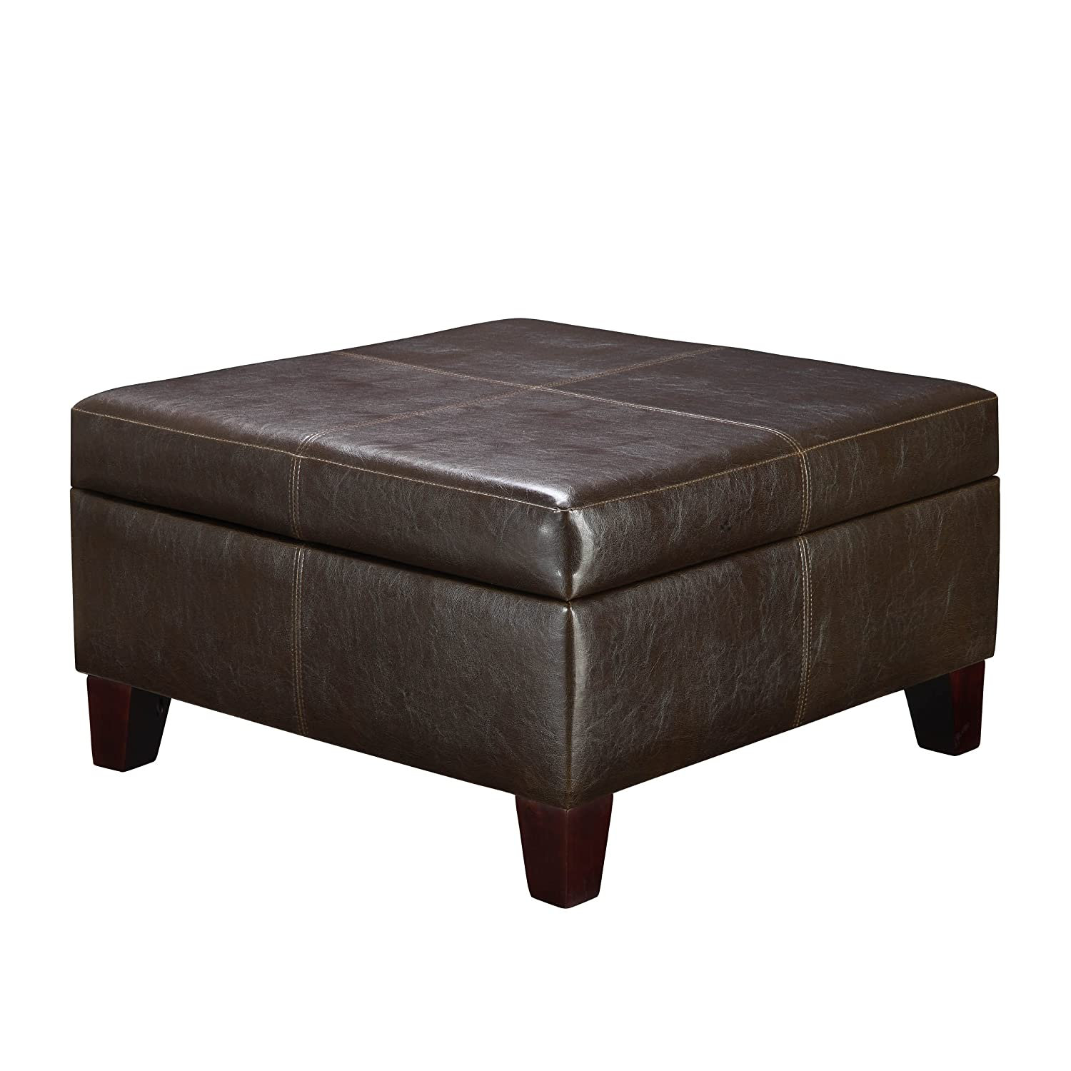 Merveilleux Amazon.com: Dorel Living Faux Leather Square Storage Ottoman, Espresso:  Kitchen U0026 Dining