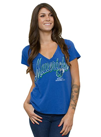 a113152a66fd Amazon.com   NBA Dallas Mavericks Women s Vintage Solid Short Sleeve ...