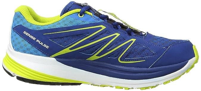 Salomon Sense Pulse - Sneaker, Homme, Bleu (Gentiane/Methyl Blue/Gecko Green), Taille 43