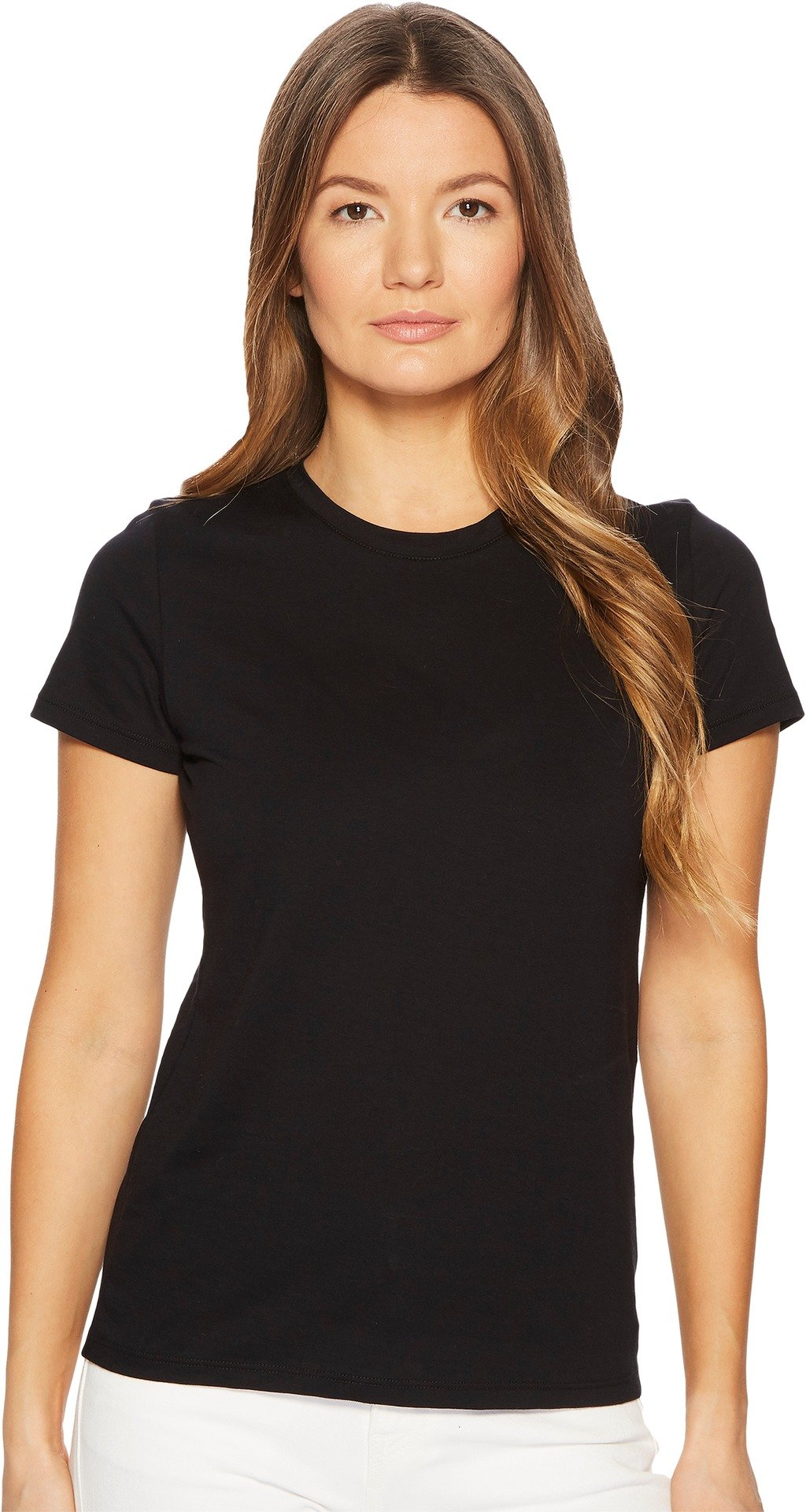 Vince Women's Essential Crew Tee, Black, Large