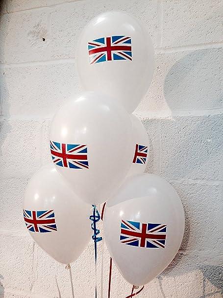 Beautiful Balloons Globos de 15 x 12 pulgadas con diseño de bandera de Reino Unido, perfectos para bodas reales y fiestas RAF: Amazon.es: Hogar