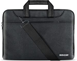 Benzer 11.6 12 inch Laptop Computer Sleeve Carrying Case Shoulder Strap Bag for Chromebook Notebook Microsoft Surface Pro HP Dell Lenovo Acer Asus Apple MacBook Air 11 12, Black LS-SLD11-BK