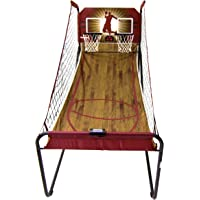 Harvil Double-Swish Electronic Basketball Game with 8 Game Options, Six 7-Inch Basketballs, 2 Steel Rims and Inflation…