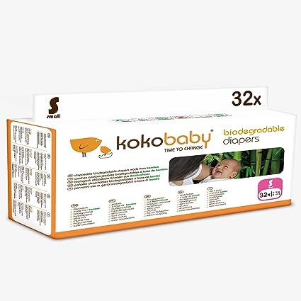 KokoBaby- Pañal desechable biodegradable para bebé (Talla S)