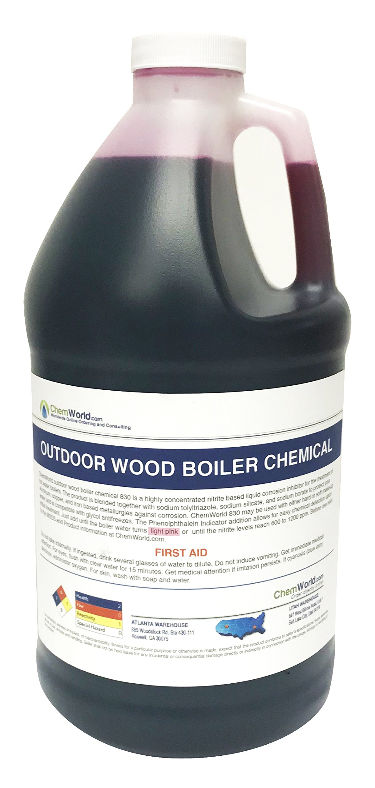Chemworld Outdoor Wood Boiler Chemical Treatment - 1/2 Gallon - Treats 125 to 250 Gallons of Water by Chemworld