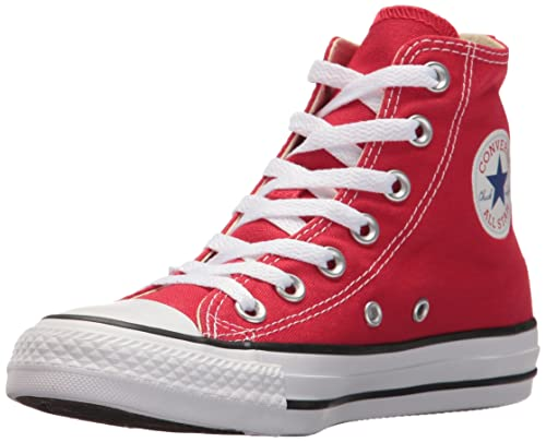 Red converse high tops chuck taylor all star elevated studs