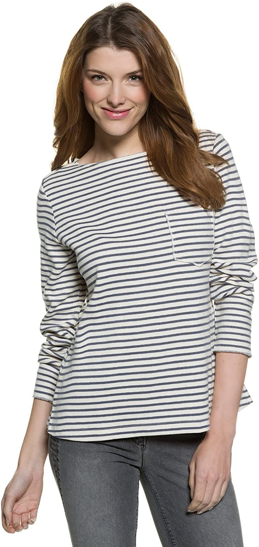 GINA LAURA Sweatshirt | Streifen-Muster | Rundhalsausschnitt | Langarmr | Bequem Geschnitten | bis Größe XXXL, Sudadera para Mujer