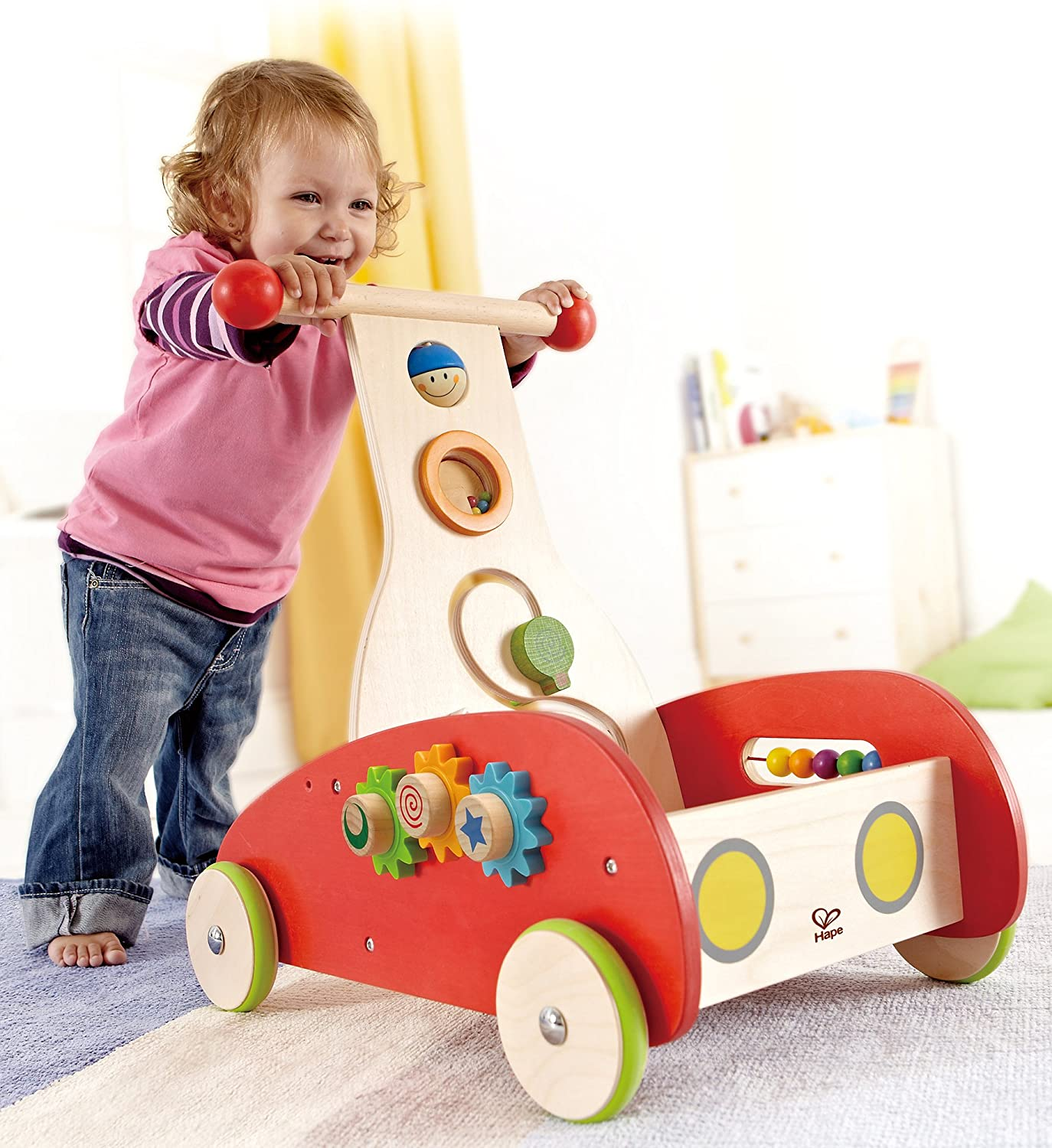 Amazon Hape Wonder Walker Push and Pull Toddler Walking Toy