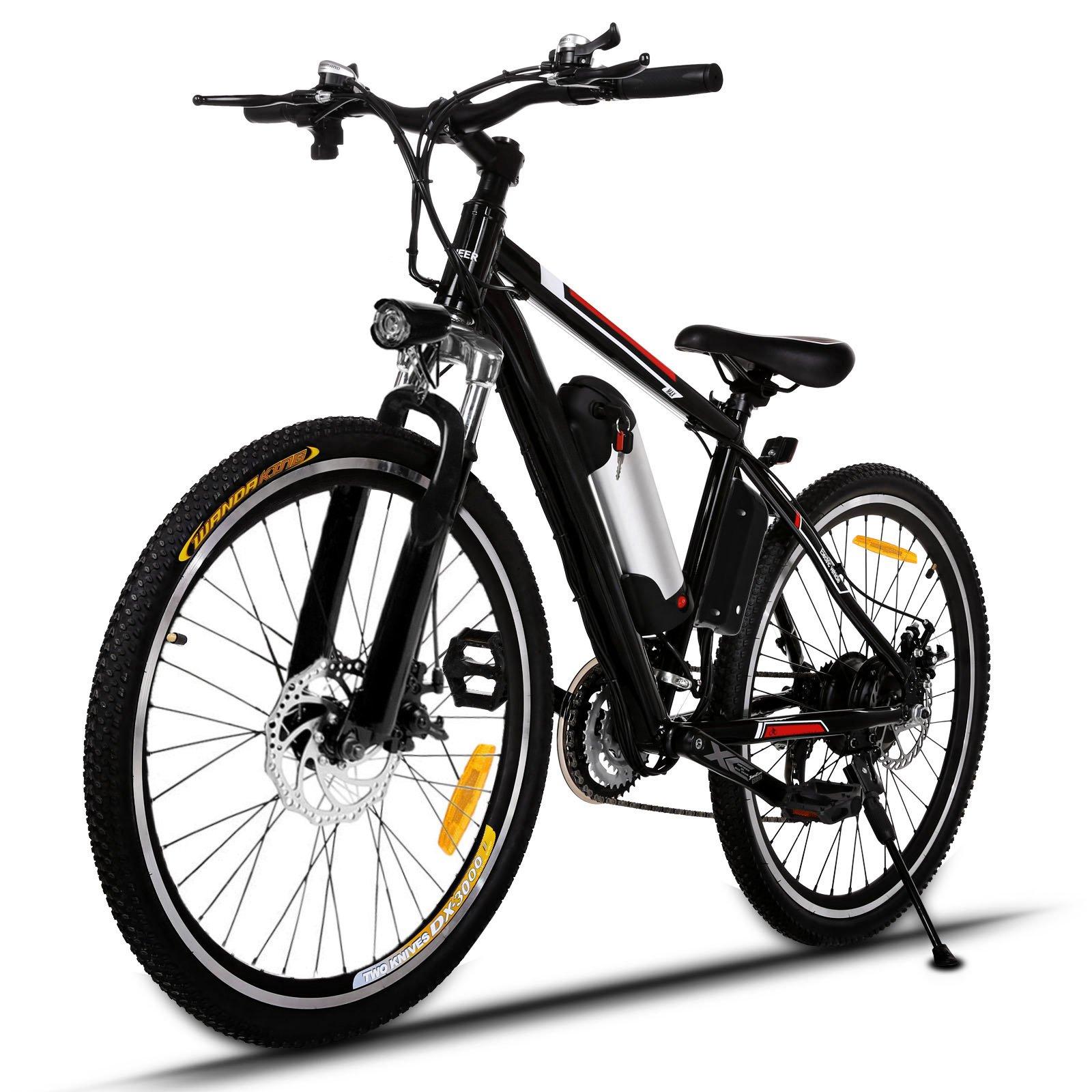 AIMADO VTT Électrique Tout-Terrain à 21 Vitesses, 26in E-Bike avec Lithium-ION Batterie Amovible 36V 250W et Phare à LED - Vitesse 30 km/h – Autonomie de 45-55 km (EU Stock) product image