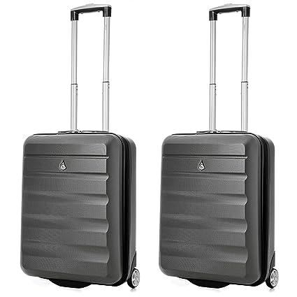32496cf01fbba Aerolite 55x40x20 Ryanair Maximum Allowance 40L Lightweight Hard Shell  Carry On Hand Cabin Luggage Travel Suitcase