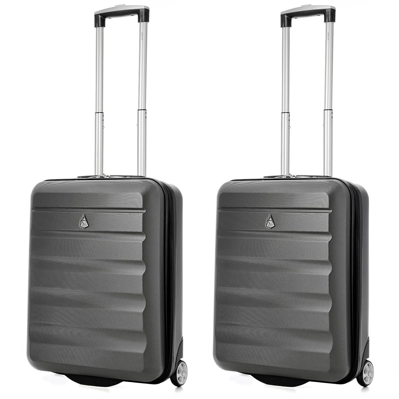 Aerolite 55x40x20 Tamaño Máximo de Ryanair y Vueling ABS Trolley Maleta Equipaje de Mano Cabina Ligera