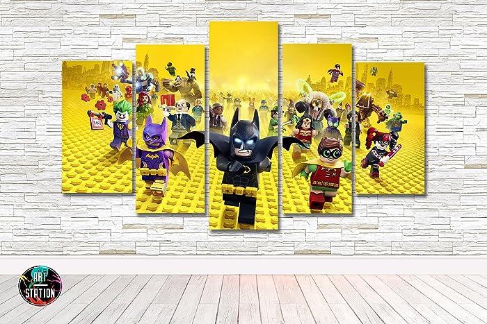 Amazon.com: Lego Batman Kids Movie Canvas Print - Multi Panel - 5 ...