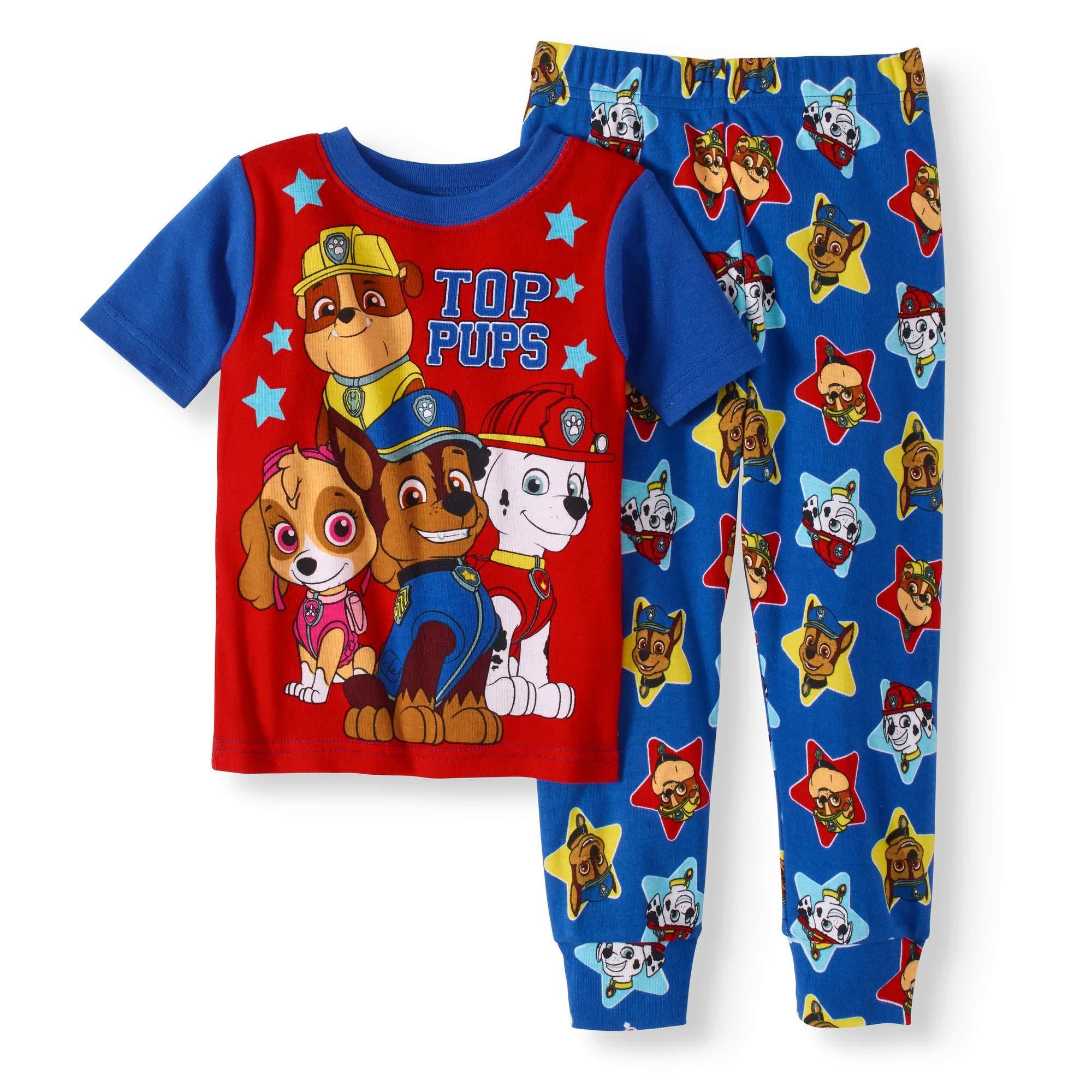 Paw Patrol Nickelodeon PJS Pajama Sleep Wear Set For Toddler Boys (5T)