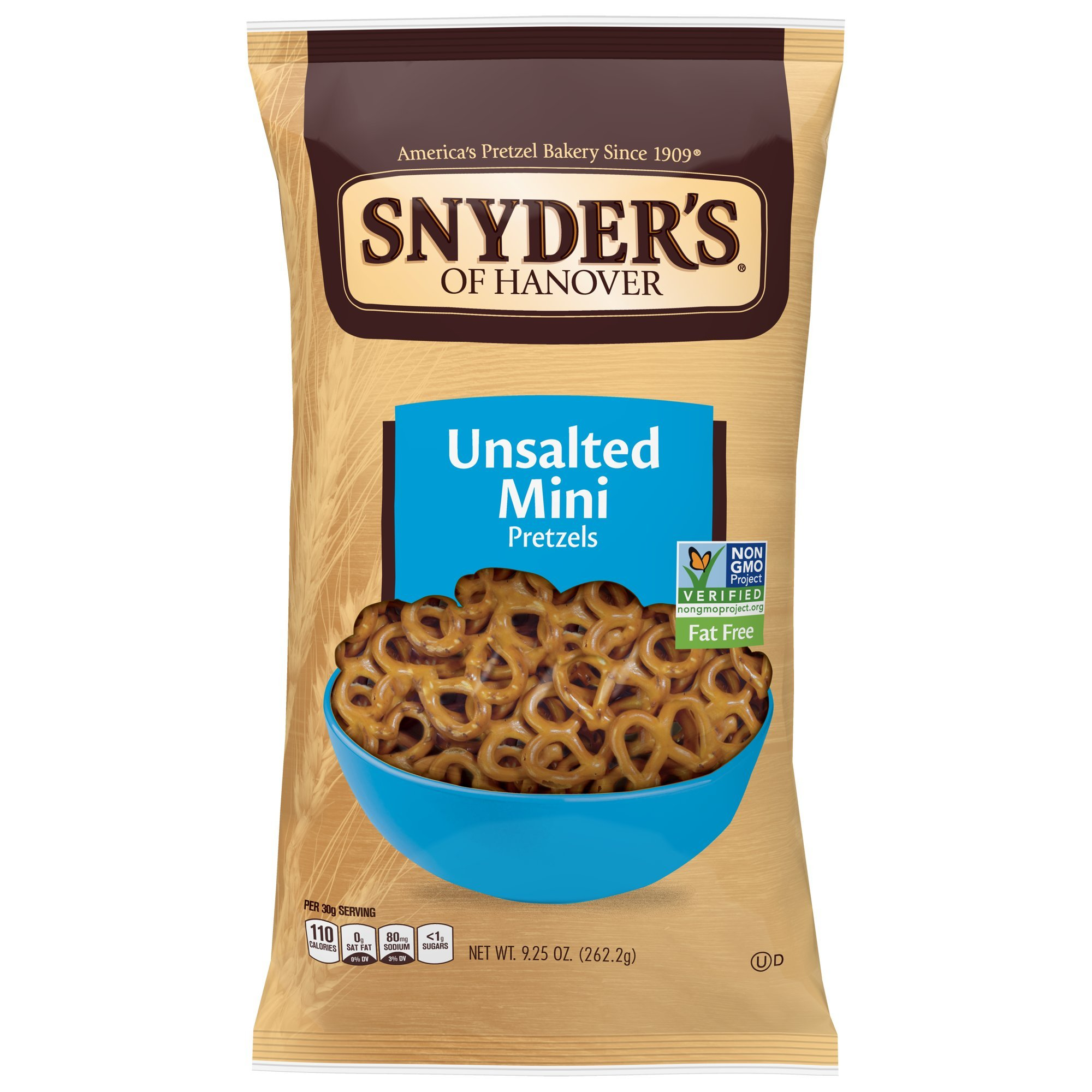 Snyder's of Hanover Mini Pretzels, Unsalted, 9.25 Ounce Bags (Pack of 12) by Snyder's of Hanover (Image #6)