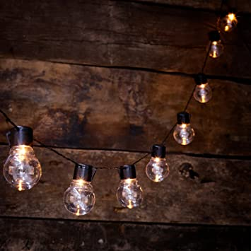 Globrite solar powered outdoor clear bulb retro festoon lights with globrite solar powered outdoor clear bulb retro festoon lights with 10 leds clear cap workwithnaturefo
