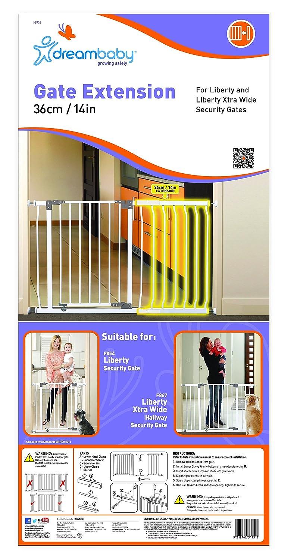 Dreambaby Liberty Gate Extension Black 27 cm