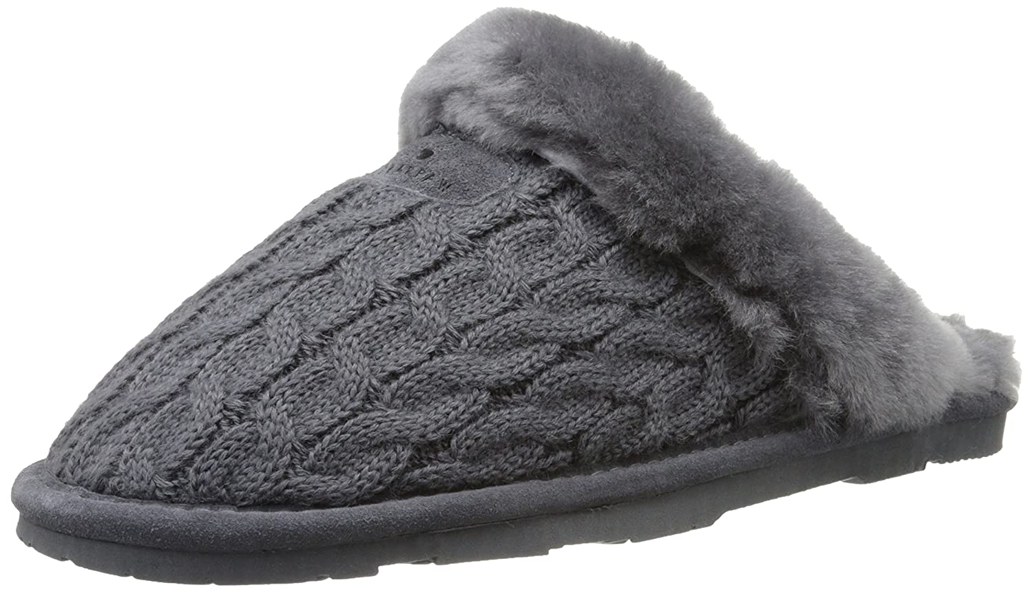 BEARPAW Women's Effie Slide Slipper B00IXANV3W 7 B(M) US|Charcoal
