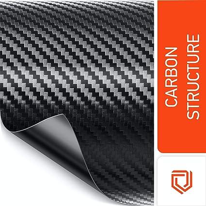 Luxshield Película Carbono Negro 12x200cm para Automóvil, Motocicleta, Bicicleta - autoadhesiva, por Metros, de Alemania: Amazon.es: Coche y moto
