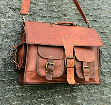 Vintage Briefcase Satchel Soft Leather Laptop Messenger Bag Shoulder Men New