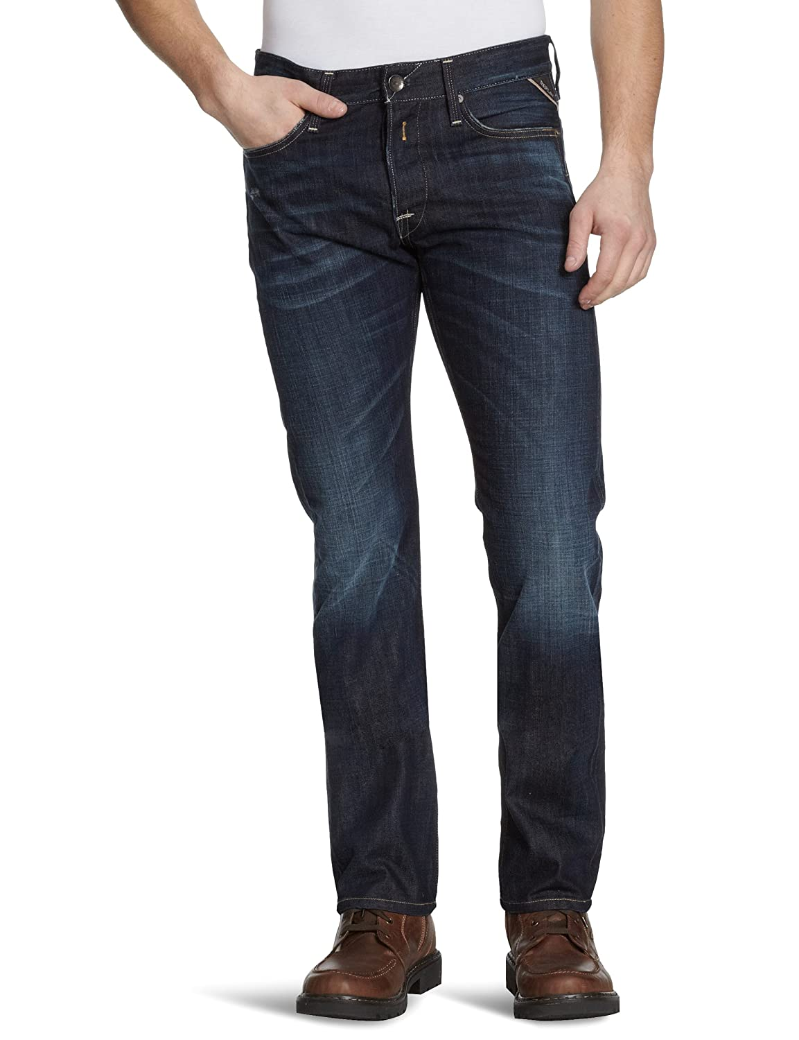 Replay Herren Straight Leg Jeans Waitom M983
