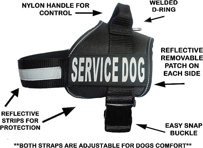Doggie Stylz Chaleco de arnés para Perro con 2 Parches ...