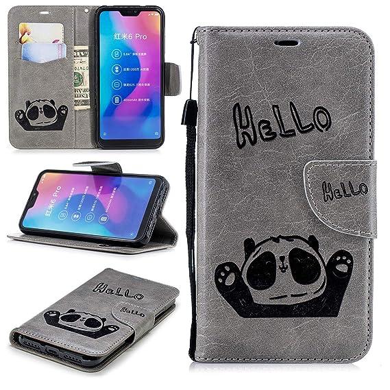 Amazon com: Cute Wallet Case for Mi A2 Lite, Flip Case