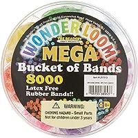 The Beadery Mega Bucket of Bands, 8000Piece, Neon Multi