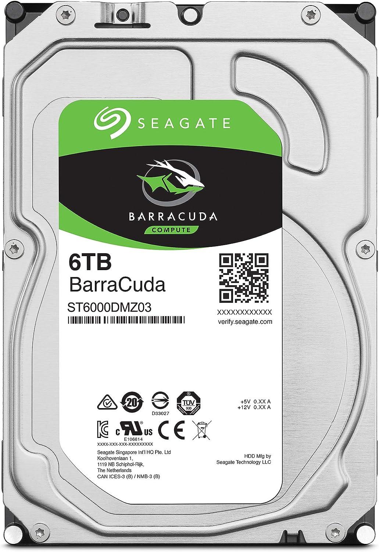 Frustfreie Verpackung SATA 6 Gb//s 7200 u//min 8,9 cm FFP silber Seagate/ ST12000DMZ007 BarraCuda Pro 12 TB intern Festplatte 3,5 Zoll 256 MB Cache