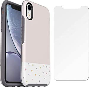 OtterBox Symmetry Series Ultra Slim Case for iPhone XR (ONLY) with Screen Protector - Bulk Packaging - Party Dip