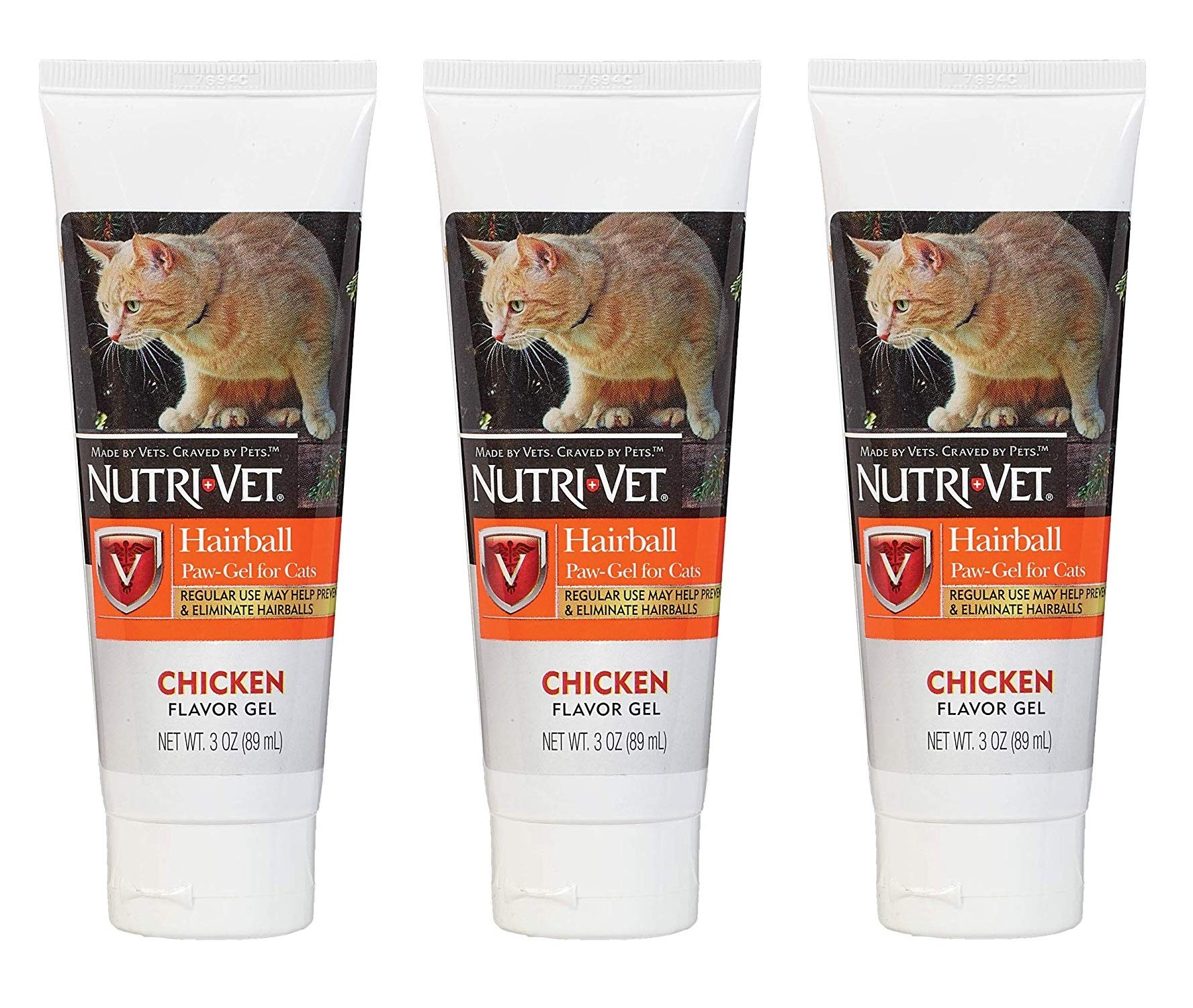 Nutri-Vet 3 Pack of Hairball Paw-Gel for Cats, 3 Ounces Each, Chicken Flavor by Nutri-Vet (Image #1)