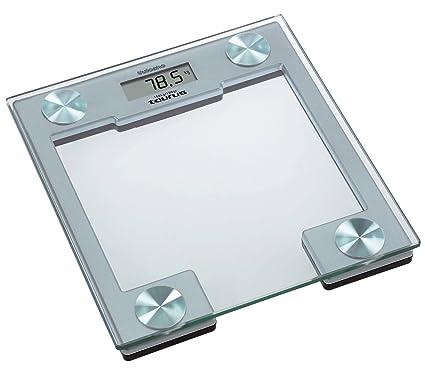 Taurus - Báscula Baño Vulcano, Peso 150Kg, Electronica, Plataforma De Cristal De Seguridad