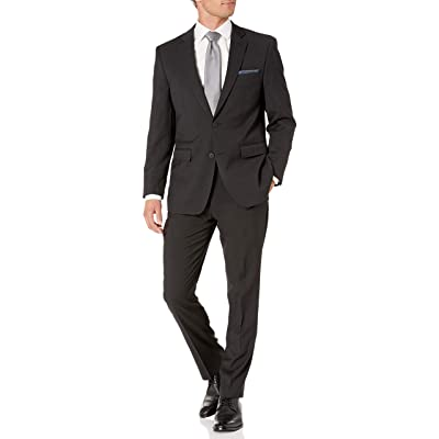 Perry Ellis Men's Two Piece Finished Bottom Slim Fit Suit at Amazon Men's Clothing store