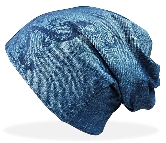 dy_mode Beanie Mütze Damen in Jeans Optik Mütze Jeggings