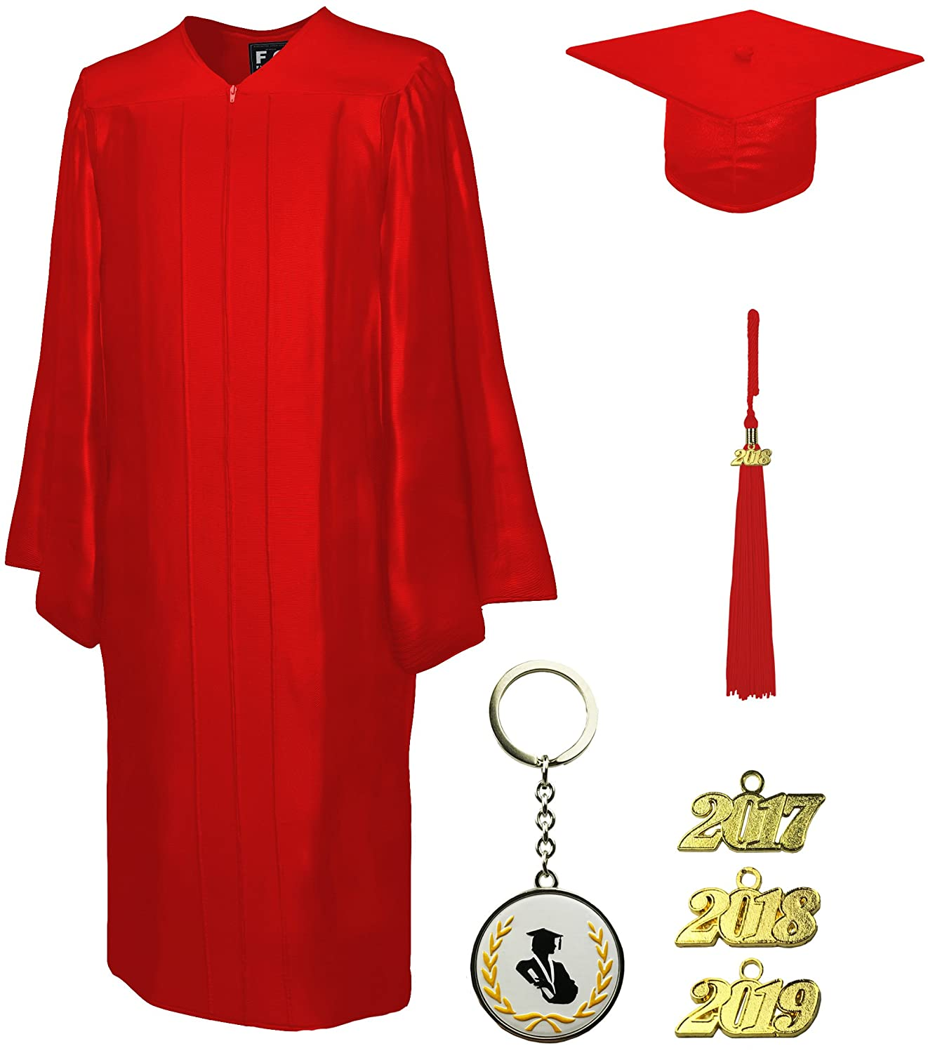 Graduation Cap and Gown and Tassel, Shiny, FIT4GRAD