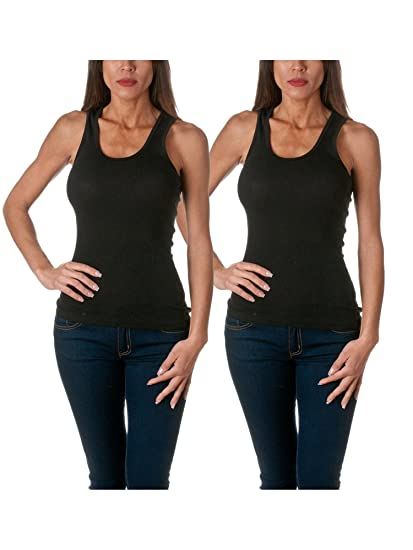 011016a96901c Sofra Women's Cotton Ribbed Tank Top at Amazon Women's Clothing store