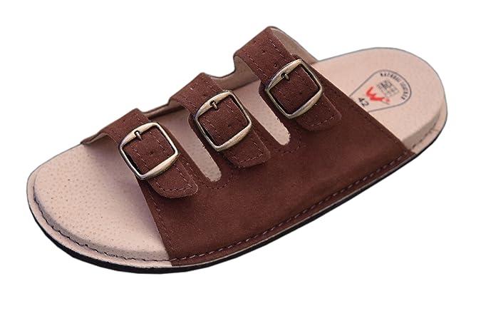 WJC , Damen Unisex Erwachsene Herren Unisex Sandalen , braun - braun - Größe: 40