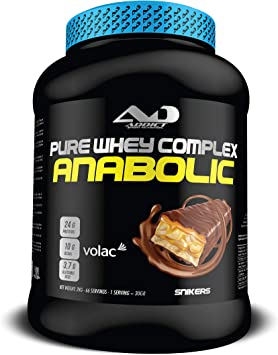 ADDICT SPORT NUTRITION AD - Proteína - Anabolic Whey Complex - Tri de suero 80% - 2 Kilos - Sabor Snikers