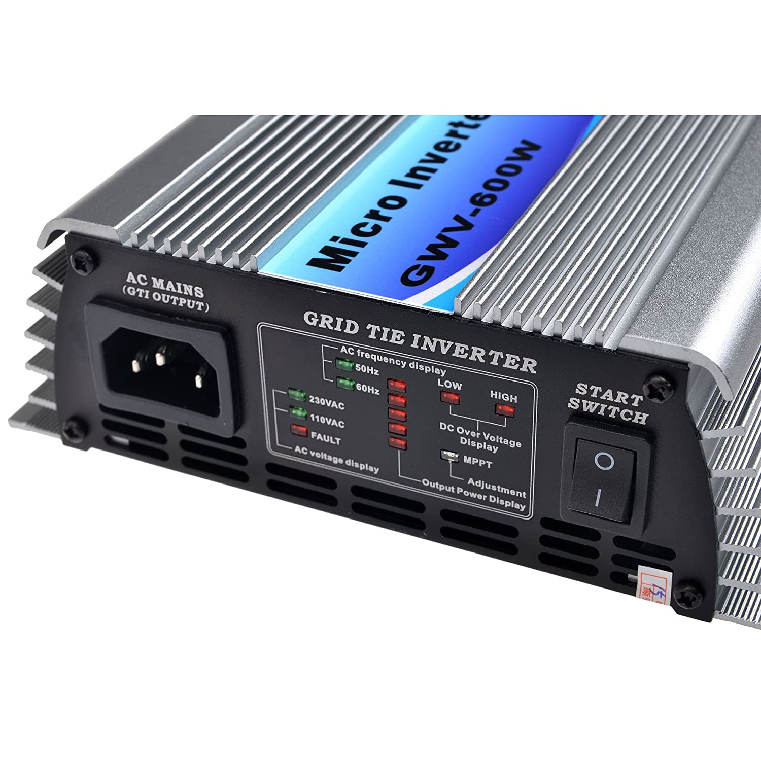SolarEpic Micro Grid Tie Inverter 600W Stackable w//MPPT 22-60V DC Input 110V Output