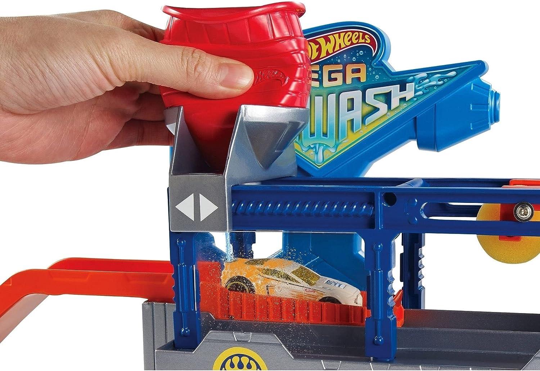 Hot Wheels FTB66 City Mega Lavage Voiture connectable Play Set avec Diecast /& Mini Voiture