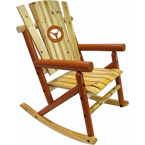 Leigh Country Rocking Chair With Texas Longhorn Medallion