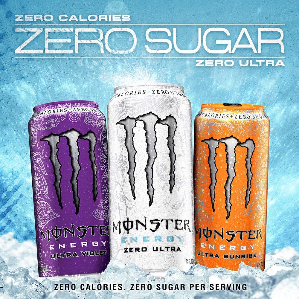 Monster Energy Ultra Sunrise, Sugar Free Energy Drink, 16 Ounce (Pack of 24) by Monster Energy (Image #4)