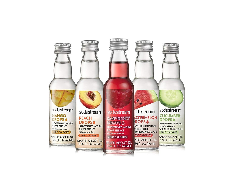 SodaStream Fruit Drops Sensation Variety Pack Drink Mixes, 1.36 Fl Oz, Pack of 5