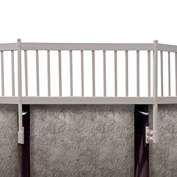 blue wave ne1331 above ground pool fence kit 8 sections taupe