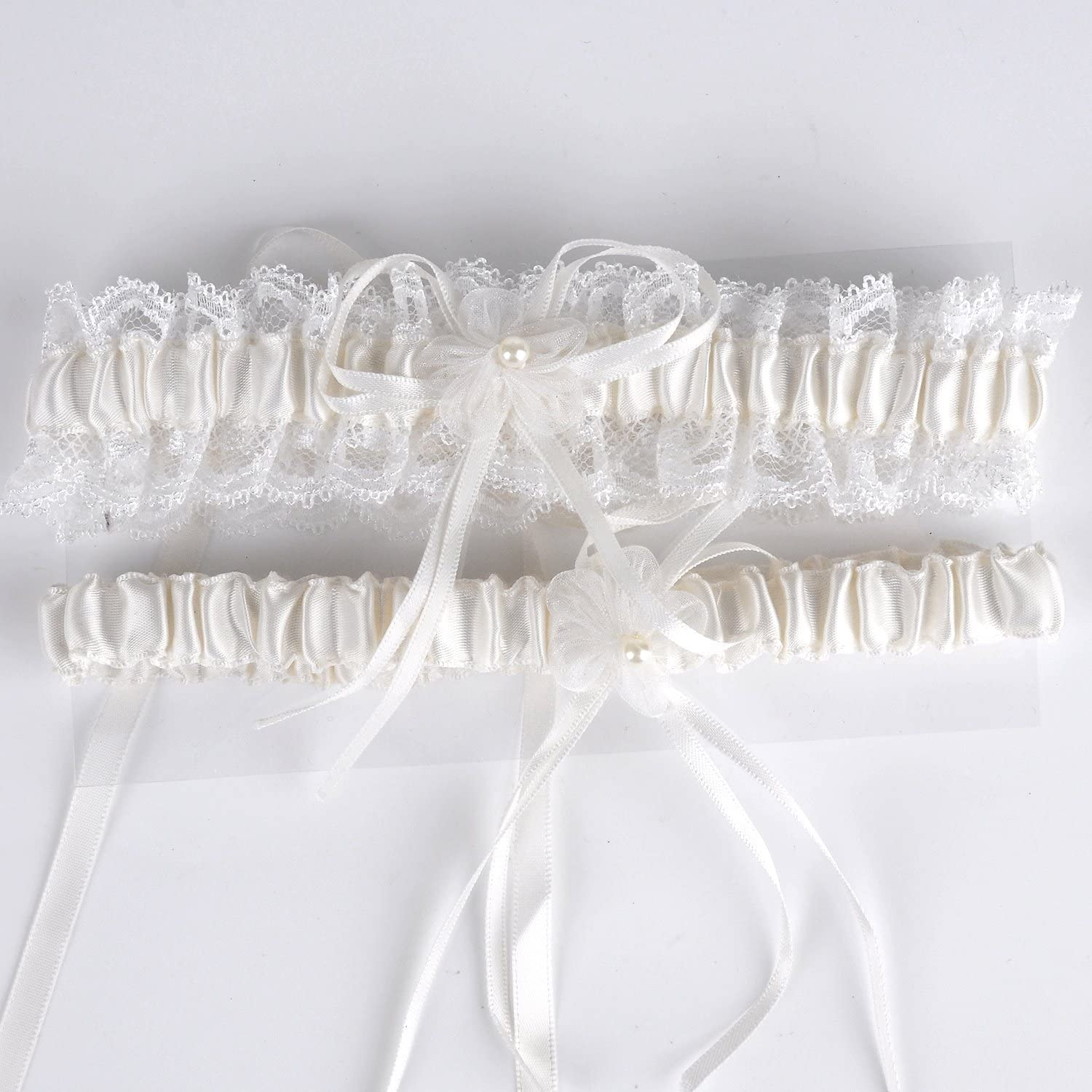 CINDERELLA SLIPPER Sheer Satin Bridal Wedding Garter