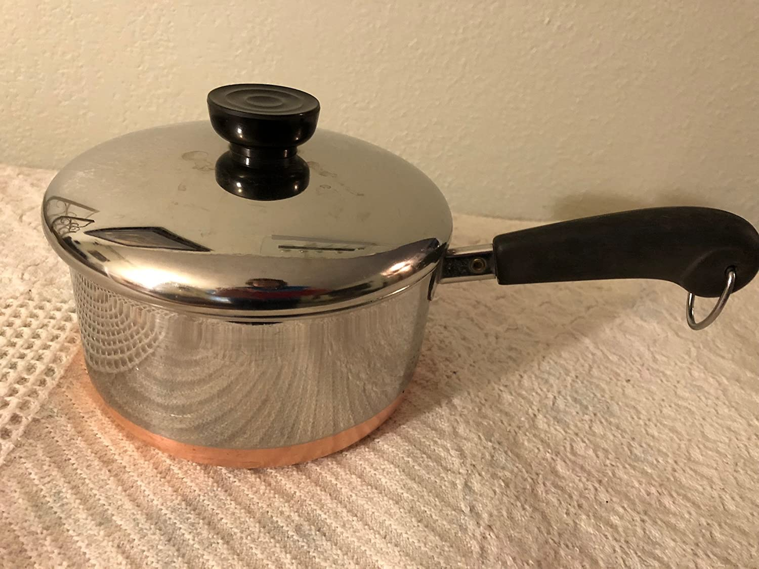 Amazon Com Vtg Revere Ware Ss Copper Bottom 1 1 2qt Saucepan Kitchen Dining