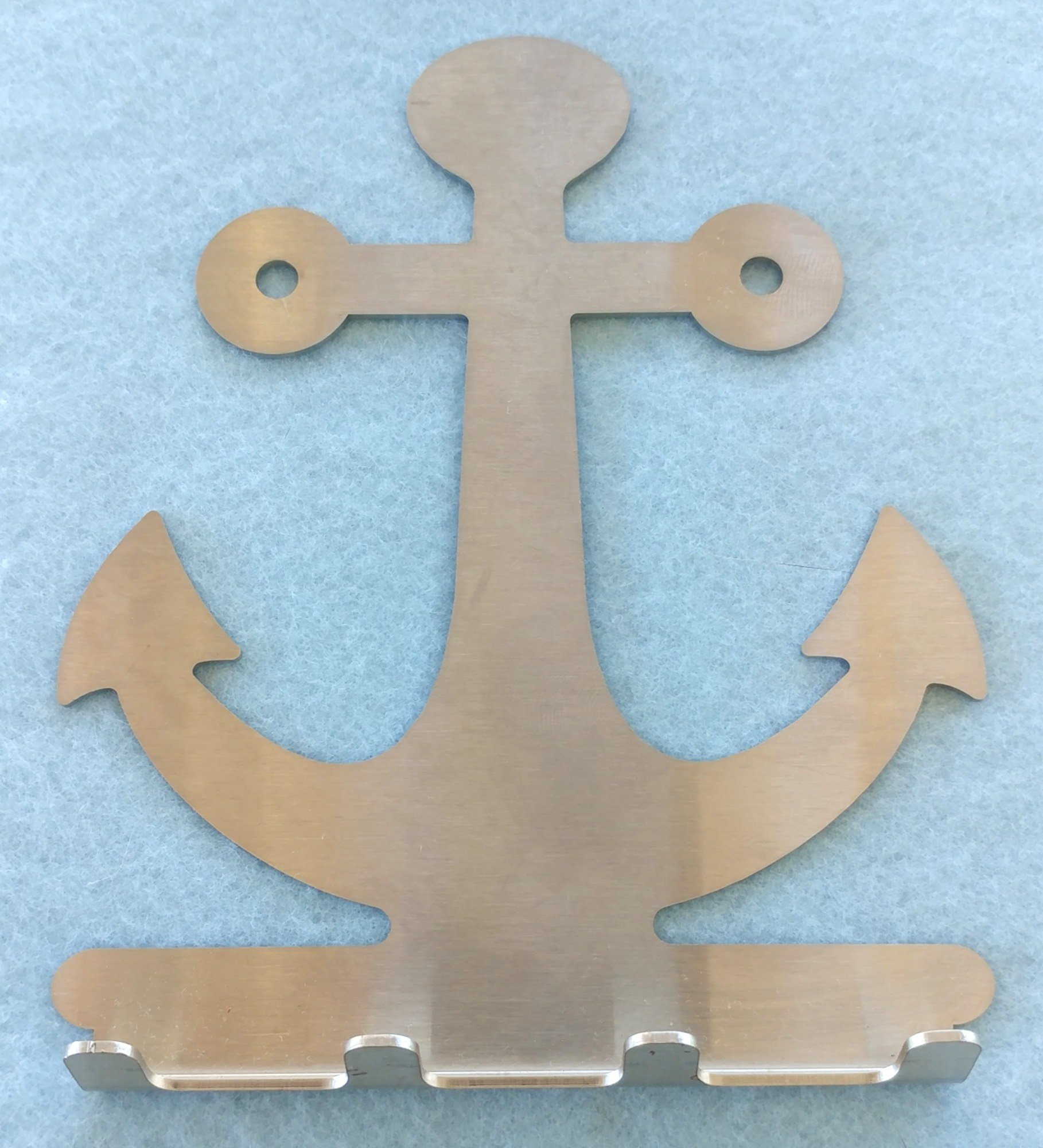Unique Stainless Steel Key Rack holds spare keys, fobs, remotes: Anchor Design