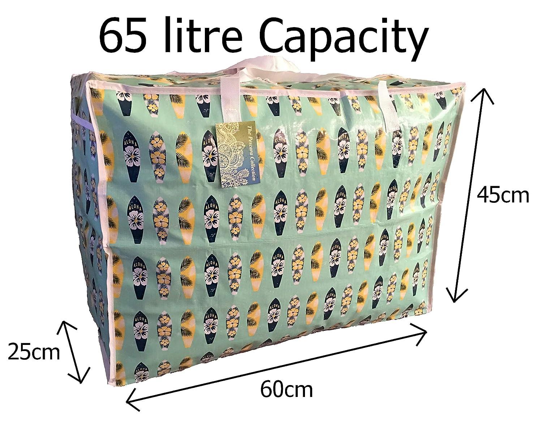 Grand sac de rangement de 65 litres Jouets Motif Vert Hawaiien Planches de surf lavage et sac /à linge