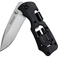 Kershaw Select Fire (1920); Multifunction Pocketknife with 3.4-Inch 8Cr13MoV Stainless Steel Blade, Black Glass-Filled…